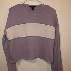 Forever 21 Purple Long Sleeve Sweater Pullover